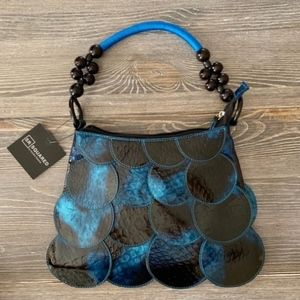 NEW Sondra Roberts Blue & Black Purse Shoulder Bag